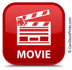 Movie (cinema clip icon) special red square button
