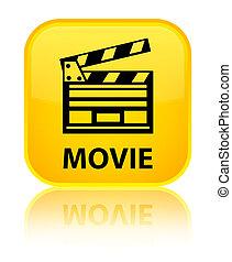 Movie (cinema clip icon) special yellow square button