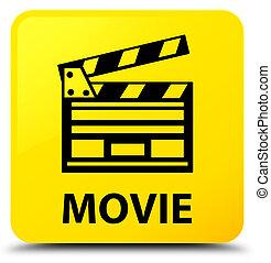 Movie (cinema clip icon) yellow square button