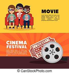 movie cinema festival people ticket banner