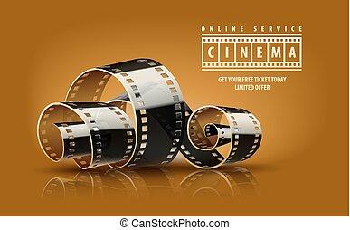 Movie cinema film reel