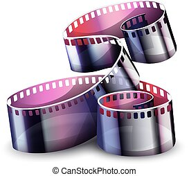 Movie cinema film reel. Vector illustration.