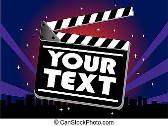 Movie clap board - Vector illustration of movie clap board ...