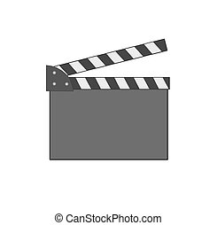 Movie clap.  - Movie clap - vector image.