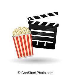 Movie clapboard design , vector illustration