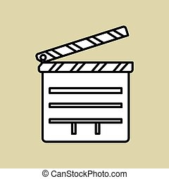 Movie clapboard design , vector illustration, vector illustration