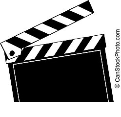 movie clapboard - Opened movie clapboard used by movie...