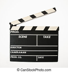 Movie clapboard. - Movie scene clapboard with blank copy...