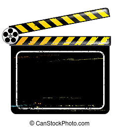 Clapper Board, vector illustration with layers file.