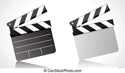 movie clapper board - Vector illustrator of a movie clapper...