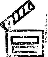 movie clapper board icon