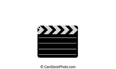 Movie clapper board  Illustration.