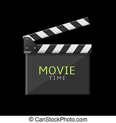 Movie clapper board - Movie time production clapper board....