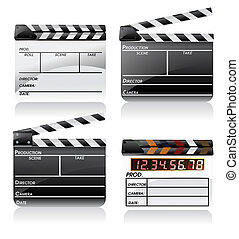 Movie clapper board set