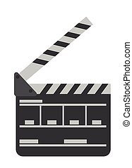 Movie clapper board vector cartoon illustration.