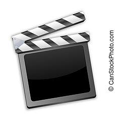 Movie clapper, clapboard, clapperbo