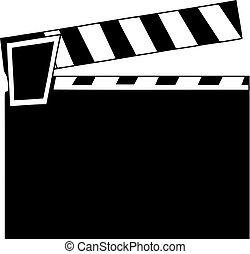Movie Clapper. Film Flap. Simple vector icon.