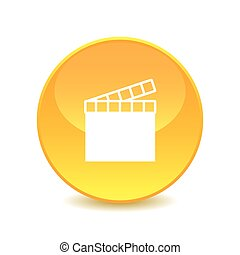 movie clapper , movie clapper icon on the background , vector