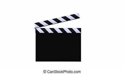 Movie Clapper - Movie clapper on a white background