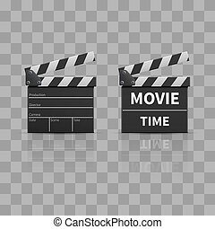Movie clapperboard or film clapper