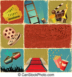 Movie Collage - illustration of collage background of movie...