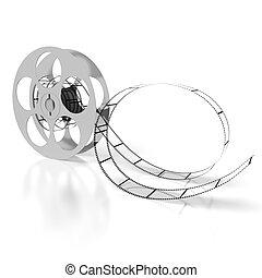 Movie concept - film reel