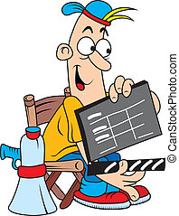 Movie director - Funny comic character as movie director...