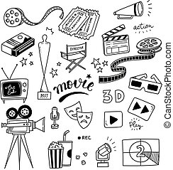 movie doodle set