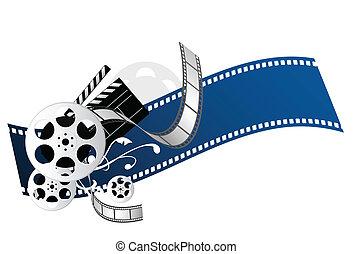 movie elements for movie theme design