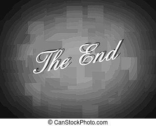 Movie ending screen background, vector illustration