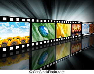 Movie Entertainment Film Reel - A film reel has different...