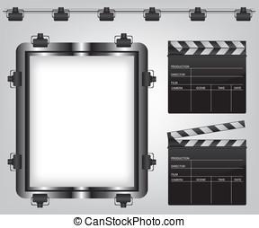 Movie equipment illustration