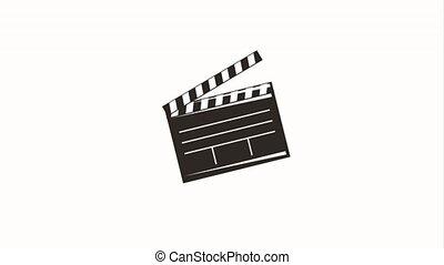 movie film clapper board click motion animation hd