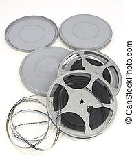 movie film reel on white