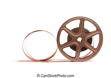 Movie Film Reel on White Background