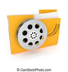Movie Folder Icon isolated on white