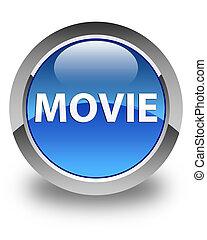 Movie glossy blue round button