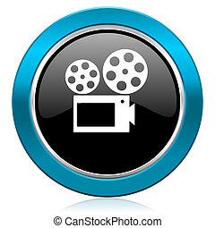movie glossy icon cinema sign