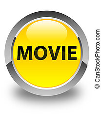 Movie glossy yellow round button