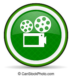 movie green icon cinema sign