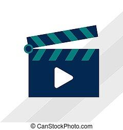 movie icon design , vector illustration