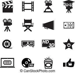 Movie Icon set for your design