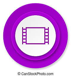 movie icon, violet button