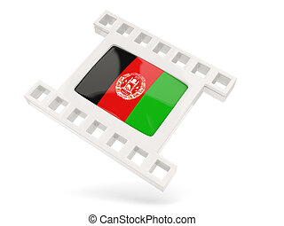 Movie icon with flag of afghanistan