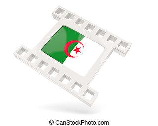 Movie icon with flag of algeria