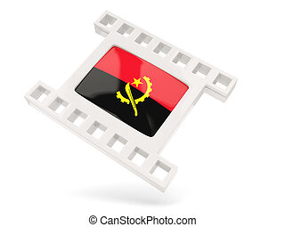 Movie icon with flag of angola
