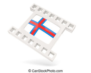 Movie icon with flag of faroe islands