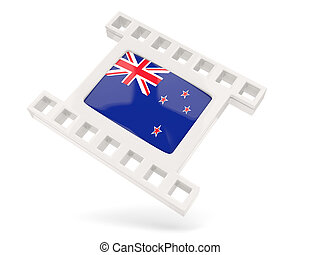 Movie icon with flag of new zealand