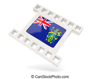 Movie icon with flag of pitcairn islands