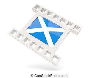 Movie icon with flag of scotland